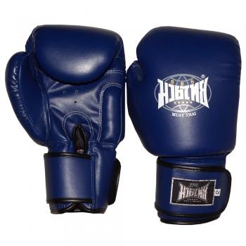 Боксерские перчатки Muay Thai Blue Ненатуральная Кожа