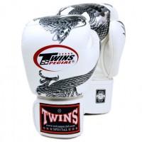 Боксерские перчатки TWINS FBGV-23 Twins White-Silver Dragon