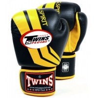 Боксерские перчатки TWINS FBGV-43 Black-Yellow