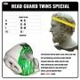Боксерский шлем TWINS FHGl-TW2 Бело-Зеленый Размер Large