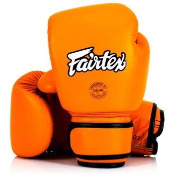 ​БОКСЕРСКИЕ ПЕРЧАТКИ FAIRTEX BGV16 WOMAN REAL LEATHER ORANGE