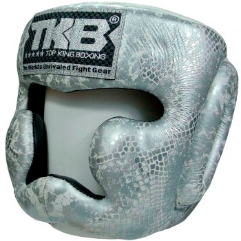 БОКСЕРСКИЙ ШЛЕМ TOP KING TKHGSN SNAKE WHITE-SILVER