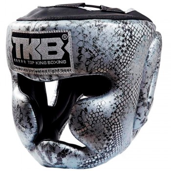 БОКСЕРСКИЙ ШЛЕМ TOP KING TKHGSN SNAKE SILVER BLACK