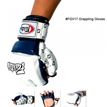ПЕРЧАТКИ ДЛЯ MMA FAIRTEX FGV17 WHITE-RED ИЛИ WHITE-BLUE
