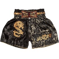 "ШОРТЫ ДЕТСКИЕ ""THAIBOXING"" TBK-06-BLACK-GOLD-DRAGON"