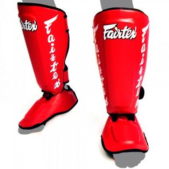 Защита голени и стопы  Fairtex SP7 Twister Red