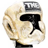 """Боксерский шлем TOP KING TKHGSN WHITE-GD """"Snake"""""""