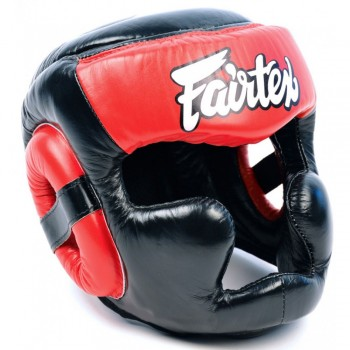 Боксерский шлем FAIRTEX HG13 Black-Red
