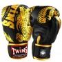 Боксерские перчатки TWINS FBGV-49 Черный с Золотым Драконом12 Oz