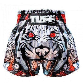 ШОРТЫ TUFF MUAYTHAI SHORTS Grey Cruel Tiger