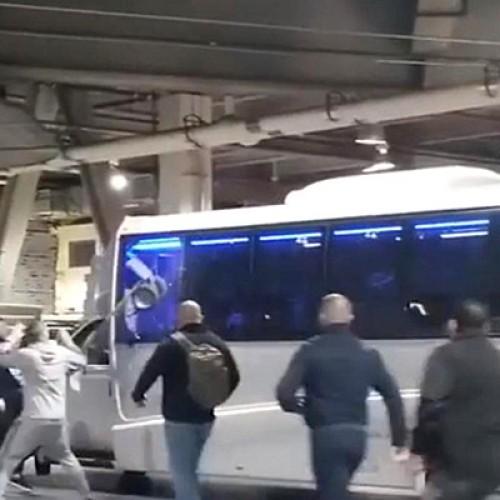 Борг, стекло, автобус, Макгрегор