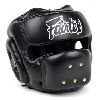 БОКСЕРСКИЙ ШЛЕМ FAIRTEX FULL FACE PROTECTOR HG14 BLACK