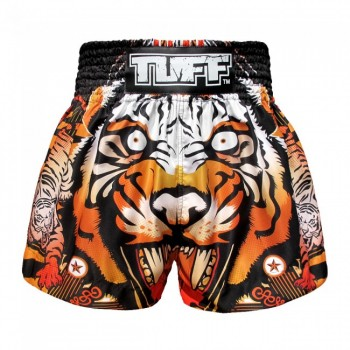 ШОРТЫ TUFF MUAYTHAI SHORTS Orange Cruel Tiger
